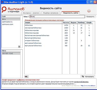 Прогон веб-сайта по каталогам программа
